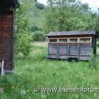 Bienenanlage Hinterbehandler und alter Anhänger