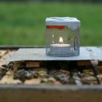 OS-Verdampfung mit Kerze und Teelicht